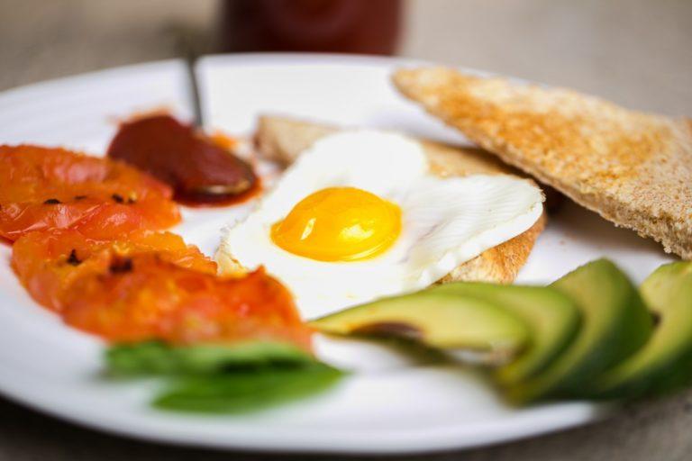 A plate of breakfast