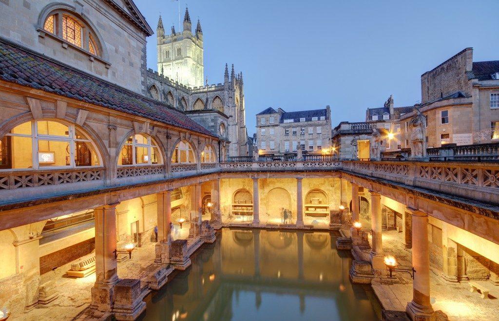 Old roman baths at bath