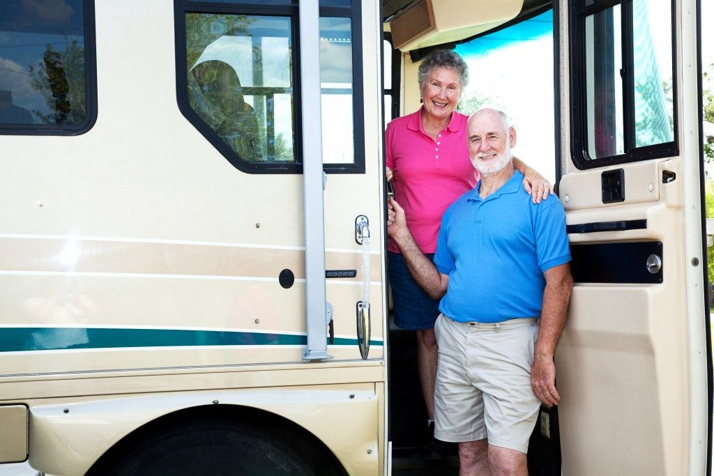 Old couple in an RV