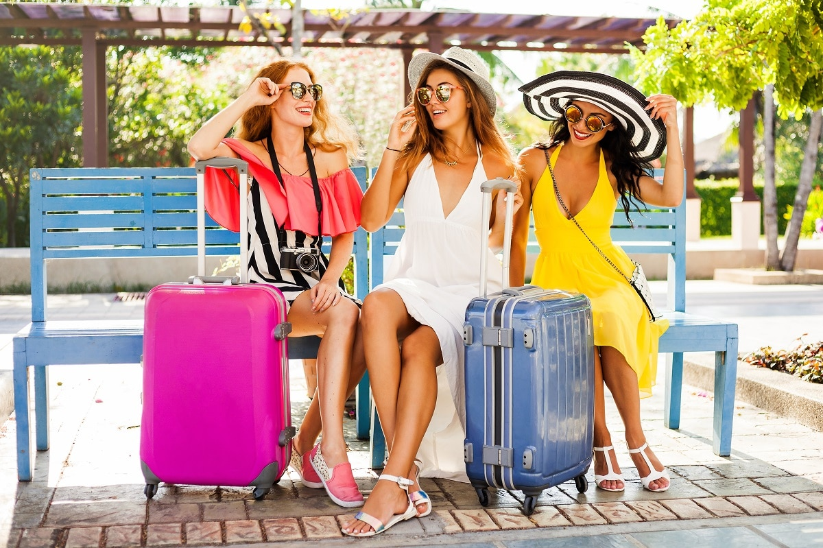 women travelling together